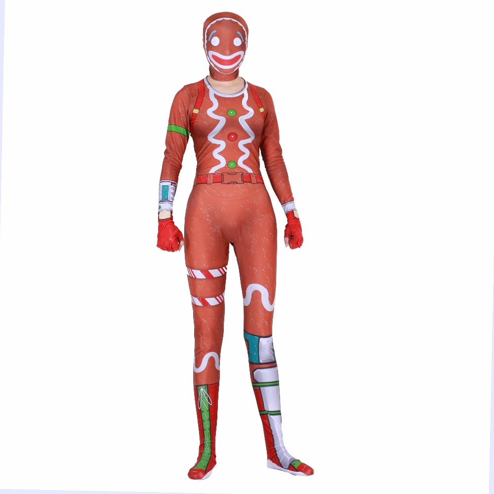 Kids Boys Girls Game Merry Marauder and Ginger Gunner Cosplay Costumes Spandex Zentai Bodysuit Suit Tight Jumpsuits