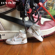 04e623a11d7 Howplay AJ1 OW 3D keychains Off White Joint Collection mini Sneakers Model  Shoes Creative Gifts for Air jordan Basketball Fan