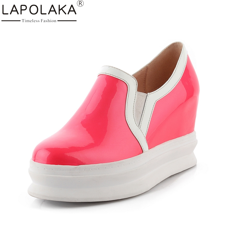 LAPOLAKA 2018 New Top Quality Dropship Genuine Leather Shoes Women Fashion Cow Leather Casual Shoes Loafers Flats top brand high quality genuine leather casual men shoes cow suede comfortable loafers soft breathable shoes men flats warm