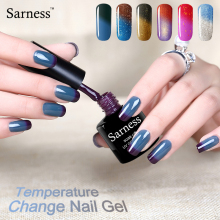 sarness 8ml Gel Nail Polish soak off Temperature Change Color UV Nail Art  Thermo Mood Color Gel Varnish vernis semi permanent