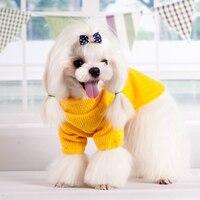 Cuello alto Invierno Ropa Para Mascotas Perro Otoño E Invierno Para Mascotas Suéter Caliente Ropa de Punto Pequeño Gato Del Perrito Suave géneros de punto Traje