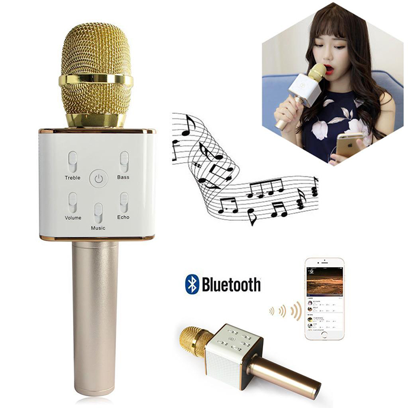 Free shipping!Microphone Portable Wireless Handheld Karaoke Player Bluetooth For Smartphone