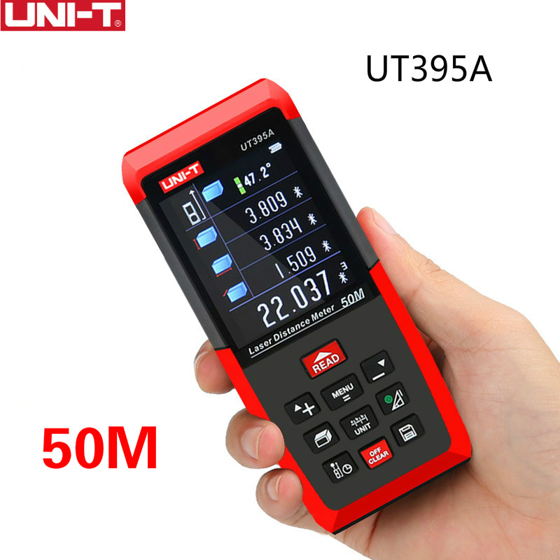 UNI-T UT395A Laser Distance Meters 50m~120m Range Finder with 2MP Lens Rangefinder Best Accuracy 2mm USB Data Export PC Software unit ut395a ut395b ut395c laser distance meters 50m 70m 100m rangefinder best accuracy software data calculate continuous measur