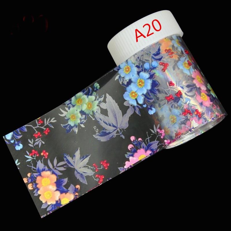 29 Styles Optional Flowers Symphony Nail Art Transfer Foil Stickers Hign Quality Full Fingernail