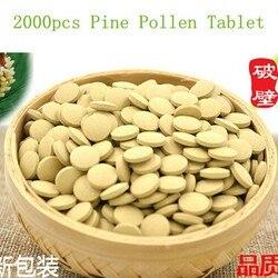 2000 шт. Органическая Сосновая Пыльца порошок таблетки 99 процентов сломанный клеточной стенки