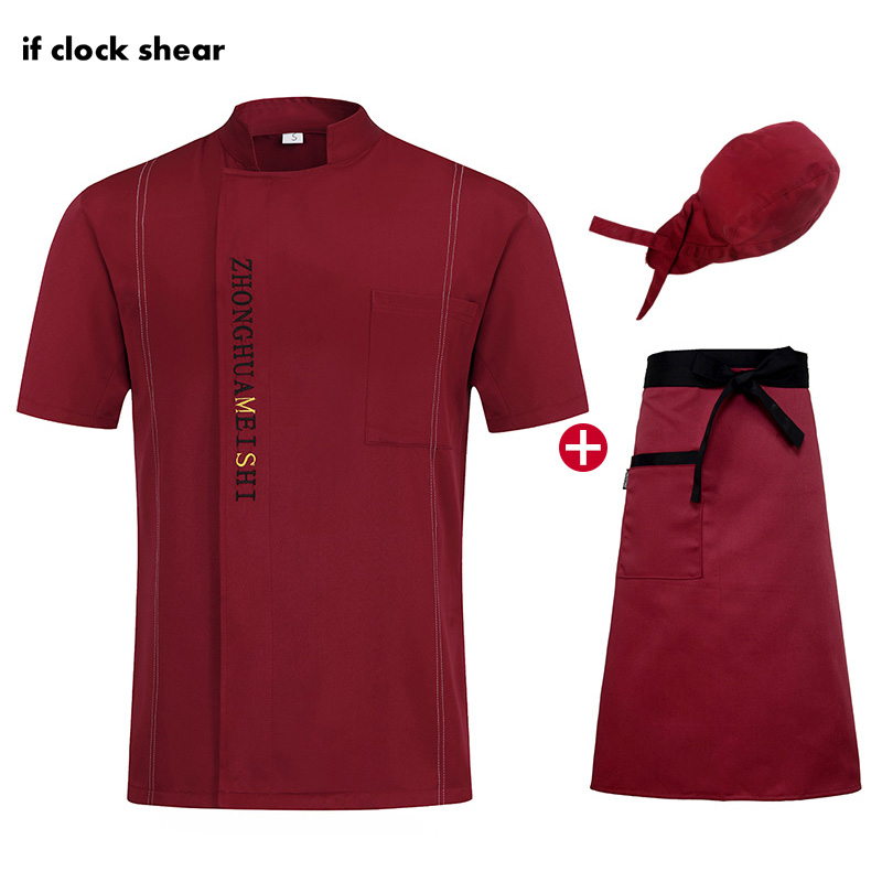 High Quality Breathable Chef Jackets Short Sleeve Hotel Restaurant Kitchen Chef Uniforms Chef Work Clothes Men And Women M-4XL