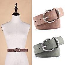 00f1b8e89 NEW Metal moda PU Do Falso couro das mulheres cinto Largo cinto Feminino  Cintos pin buckle