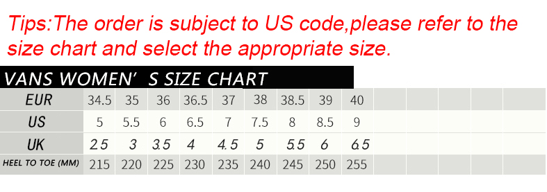 Dear friend please choose the number of shoes according to size chart also original vans vintage candy color low top skateboarding rh aliexpress