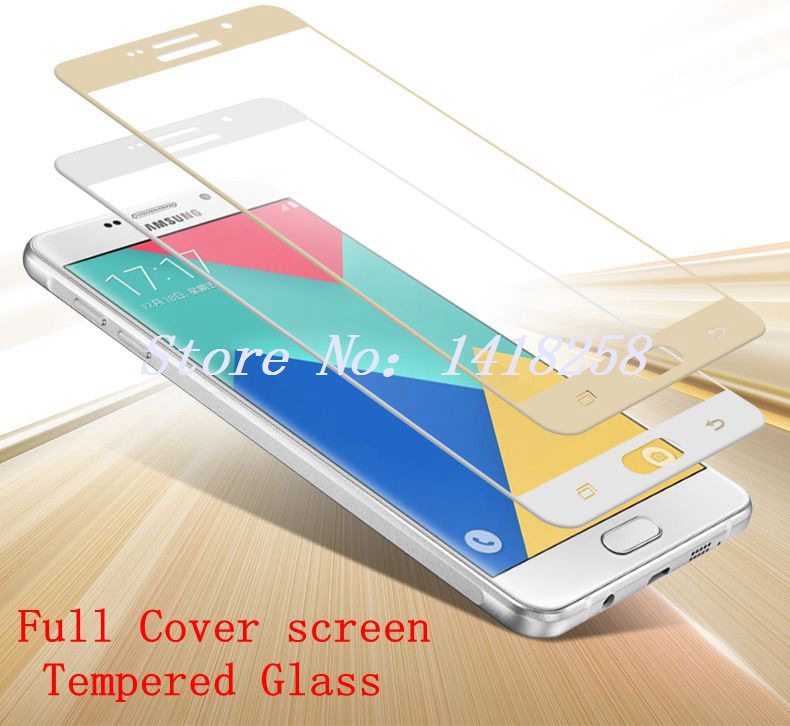 0.26MM 2.5D Curved  Full Cover Screen Tempered Glass For Samsung Galaxy A7 2016 A710F A710 A7100