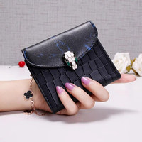 New Design Leather Women Wallet Bag Luxury Brand Ladies Fashion Leather Hasp Pouch Short Clutch Solid
