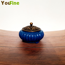 Bronze brass incense burner Buddhist home decoration sandalwood container Chinese traditional craft