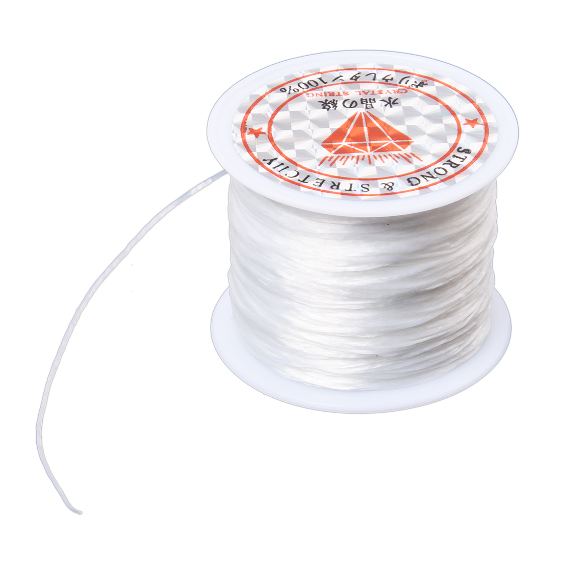 5pack x (White Elastic Stretchy Crystal Line Jewelry Beading Thread Spool 100 Meters