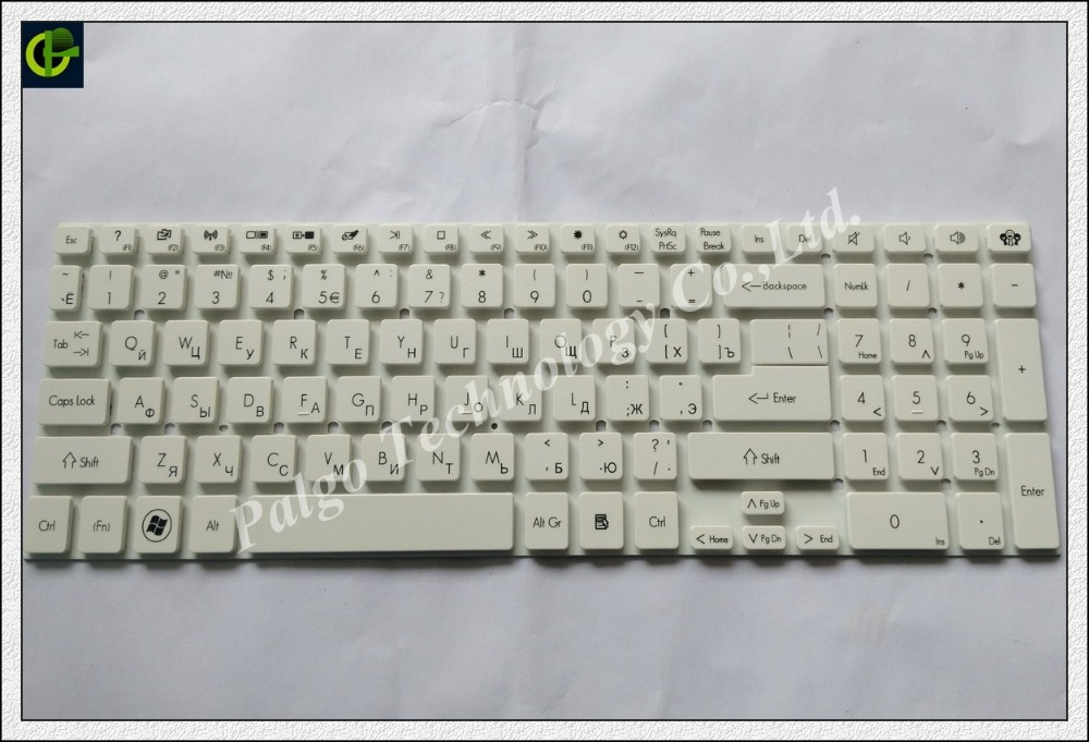 Russian Keyboard for Acer TravelMate P255 P255-M P255-MG P255M P255-MP P255-MPG AEZYW700010 MP-10K33SU-9201W White RU version цена