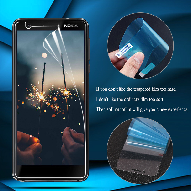 Nano Explosion-proof Film For <font><b>Nokia</b></font> <font><b>7.1</b></font> 5.1 6.1 7 Plus <font><b>Screen</b></font> <font><b>Protector</b></font> For <font><b>Nokia</b></font> 6 2018 9 8 7 <font><b>7.1</b></font> 2 Guard (Not tempered glass) image