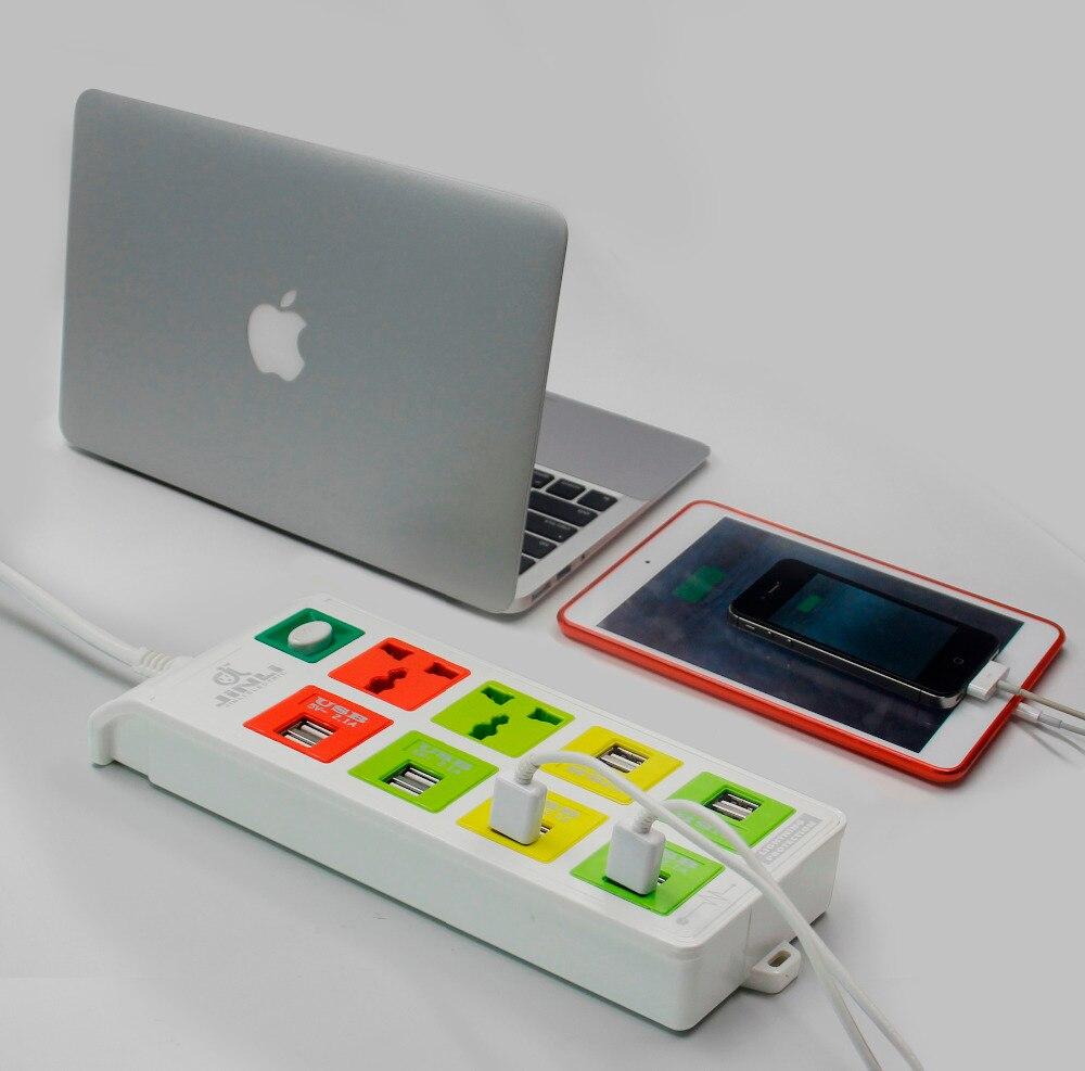Prise intelligente 2 prises + 12 sorties USB multiprise avec protection contre la foudre - 2
