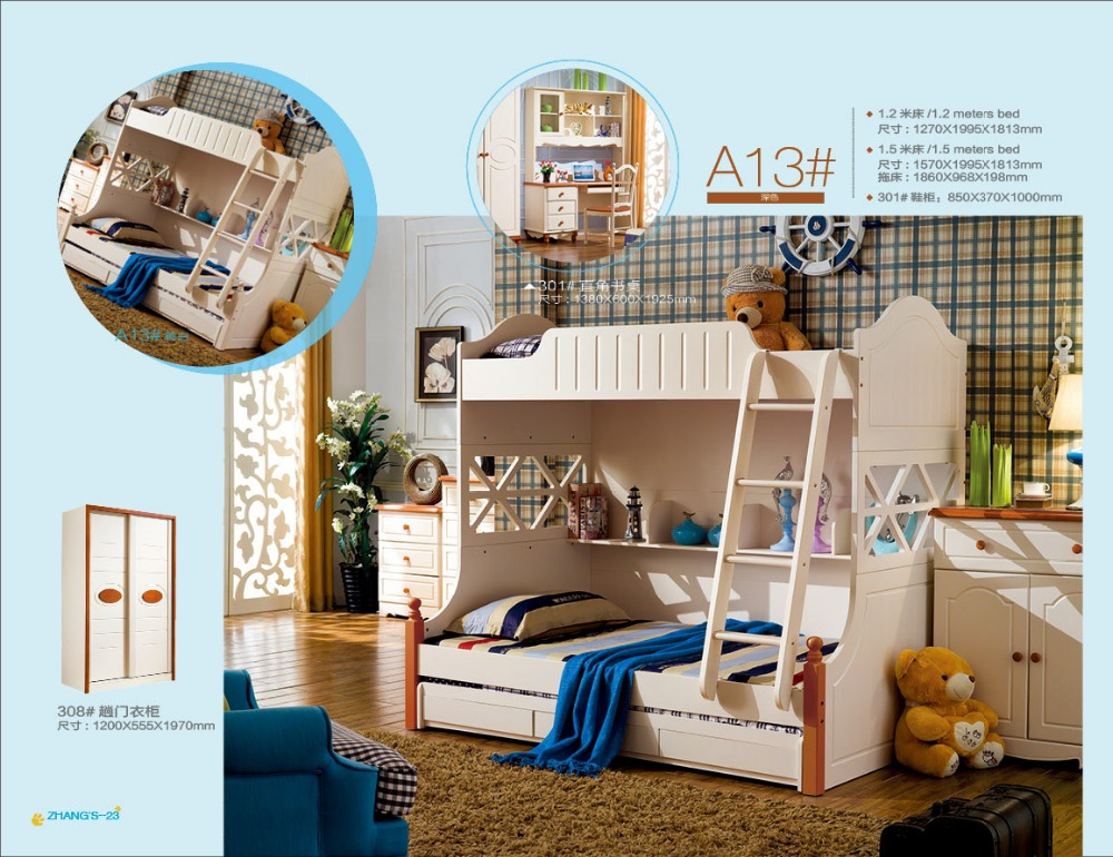 2016 Meuble Enfant Offer Wood Kids Table And Chair Loft Bed Set ...