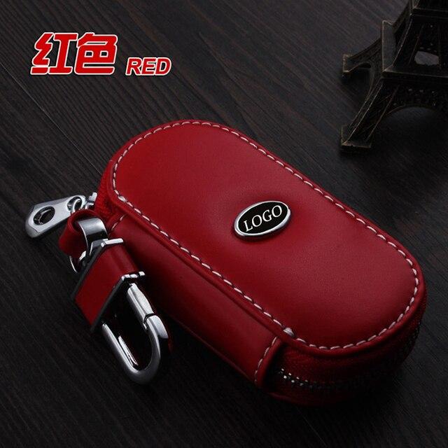 Anillos Dominantes Del Coche de Cuero genuino Llavero macan ForPorsche cayenne panamera 911 Boxster Cayman Car Key Holder Cubierta de la Caja de Accesorios