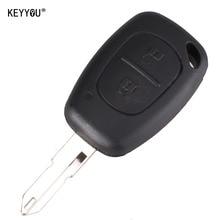 KEYYOU 2 Button Remote Key Fob Shell Case Blank For Vivaro Movano Renault Traffic KANGOO For NISSAN Free shipping