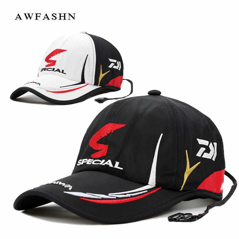 3842cac018837 Daiwa Fishing cap Adult Men Adjustable Breathable Fishing Daiwa Japan  Sunshade Sport Baseball Fishermen Hat Cap