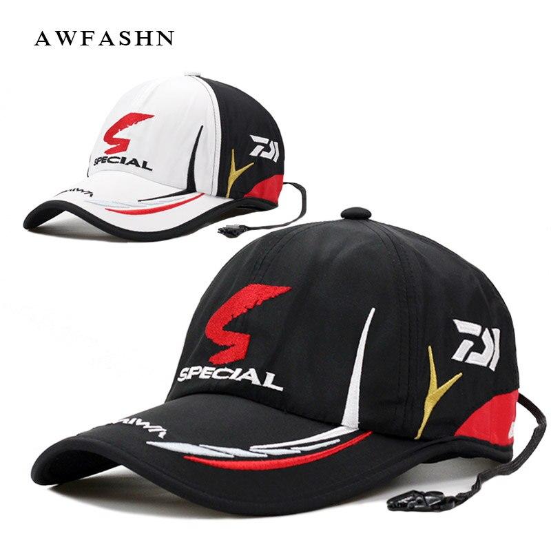 Daiwa Angeln kappe Erwachsene Männer Einstellbar Atmungs Angel Daiwa Japan Sonnenschirm Sport Baseball Fischer Hut Kappe