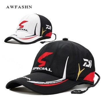 Daiwa Fishing cap  Adult Men Adjustable Breathable Fishing Daiwa Japan Sunshade Sport Baseball Fishermen Hat Cap