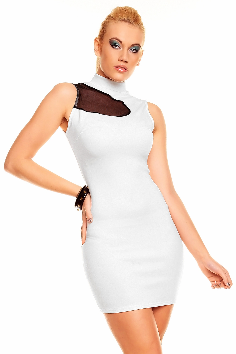 Free Shipping Sexy Peplum Business Style Office Lady White Elegant  Newly Fashion Dress