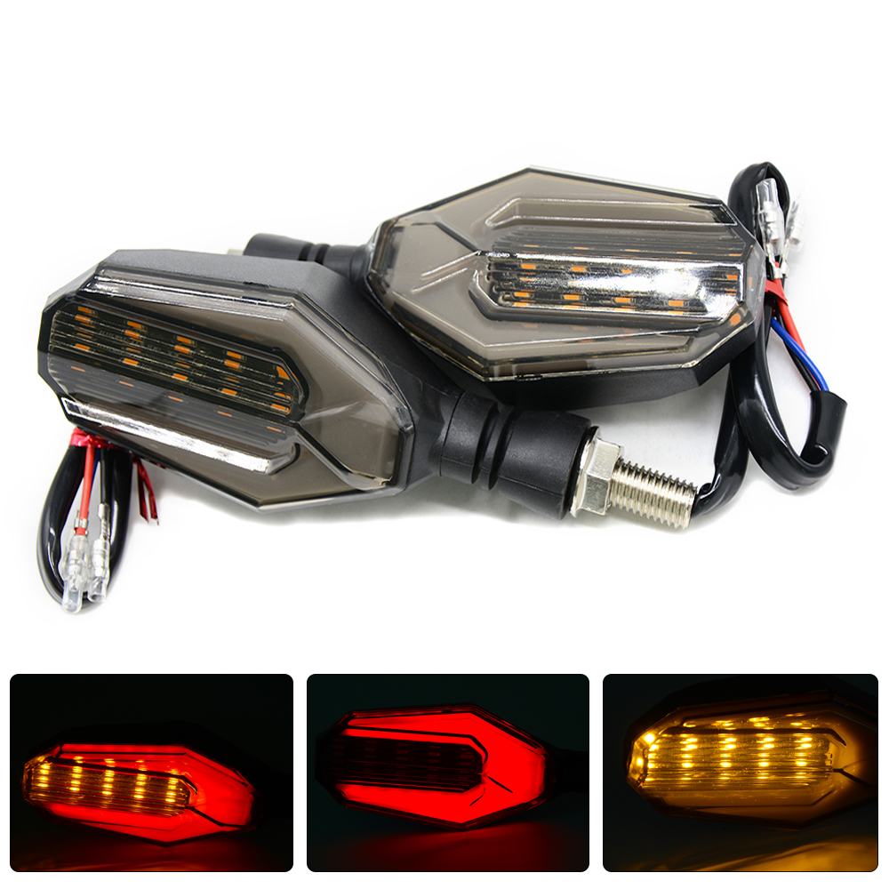 Universal Motorcycle Turn Signal Indicators LED 12V Blinkers Flashers Flexible Bendable Lamp Light for KTM Kawasaki Yamaha Honda
