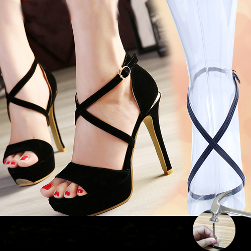 55cm/22'' 2016 Fashion Women High Heels Shoeslaces Long Shoe Band Around The Ankle Cross-section