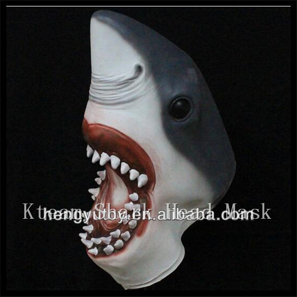US $71 99 |2017 Top Grade Halloween Party Coaplay Full head Awesome Shark  Mask Impressive Costume Realisic Horror Animal Shark Head Mask-in Party