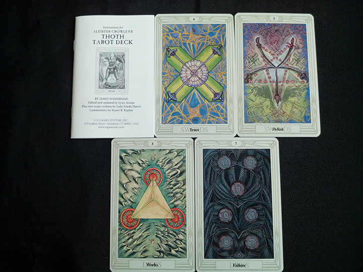 78pcs/set Original Aleister Crowley Thoth Tarot cards portable size board  game card set all in English