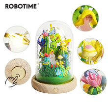 Robotime 4 Kinds Modeling Clay With Led&Glass Box Colorful Polymer Creative DIY Clay Creative Toy Gift for Children Adult DC(China)