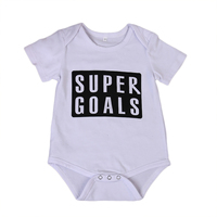 2017 Baby Girls Boy Infant Newborn Kids SUPER GOAL Letters Bodysuit Playsuit Clothes Outfit 0-24M Clothing