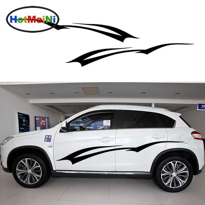 HotMeiNi Elegant Endearing Swallows Fly Abstract Art Graphic Car Sticker Van RV Kayak Canoe Home Car Decor Vinyl Decal 9 Color hot sale 1pc longhorn hilux 900mm graphic vinyl sticker for toyota hilux decals badges detailing sticker car styling accessories