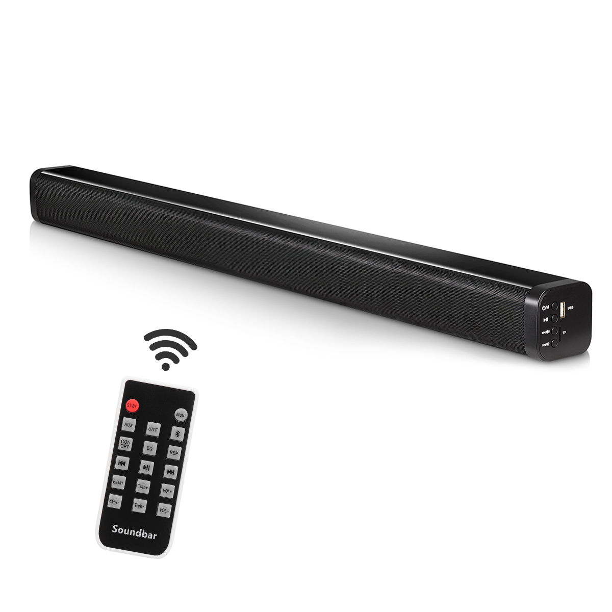 Begeistert Bluetooth Lautsprecher Tv Soundbar 4 Fahrer Heimkino Stereo Schwere Bass Tf Karte N-s09 Wand-montiert Lautsprecher Smart Home Soundbar Neue Lautsprecher