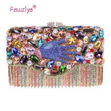 Fawziya Clutches Women Hand Purse For Womens Evening Bag Hard Case Rhinestone Clutch