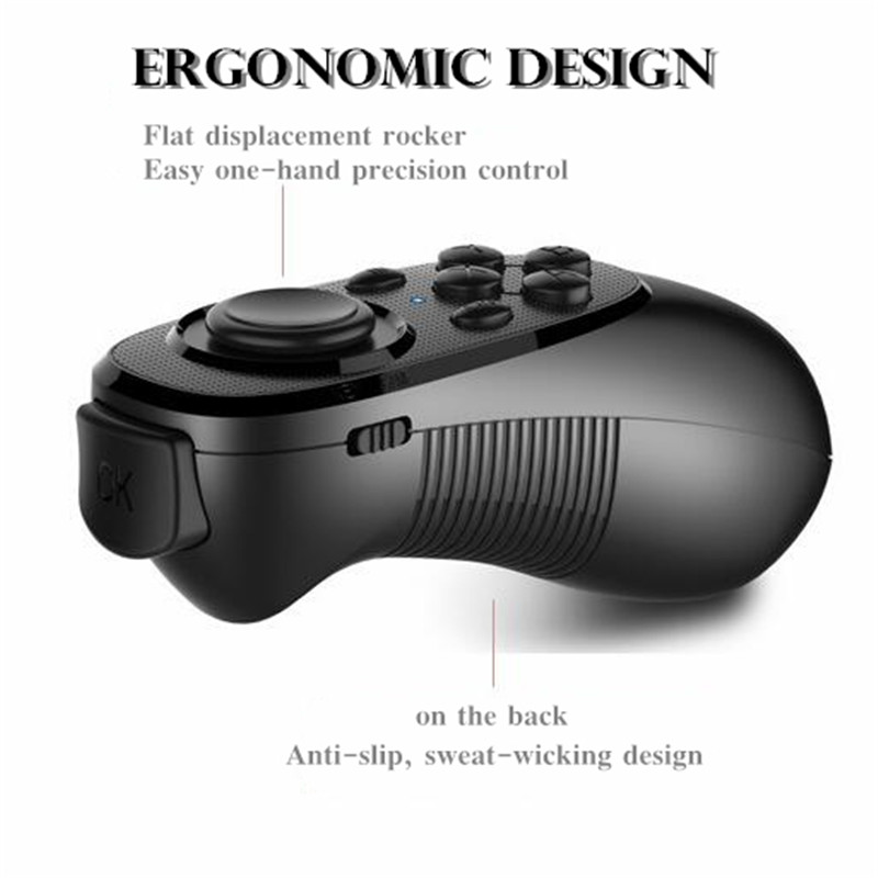 Original VR Virtual Reality 3D Glasses Box Stereo VR Google Cardboard Headset Helmet for IOS Android Smartphone,Bluetooth Rocker