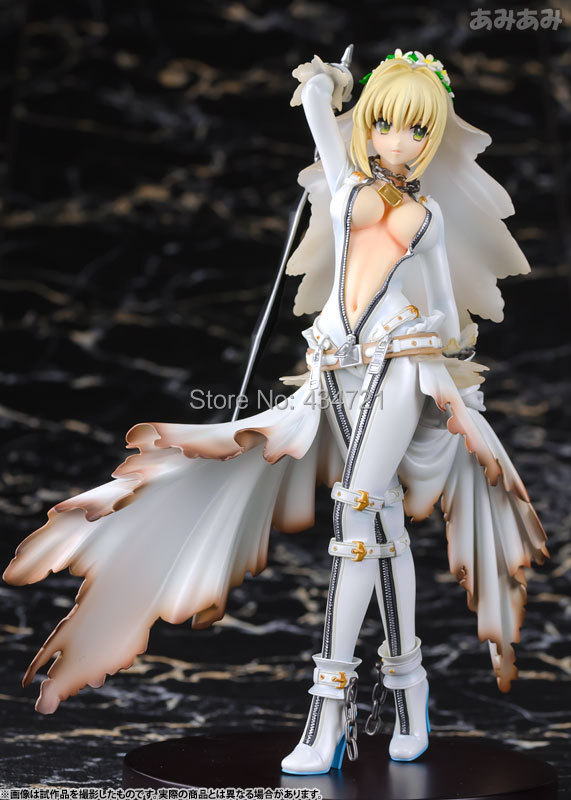 ФОТО New Arrival Anime/Game Fate Extra CCC Saber Altria Pendragon Wedding Dress Sexy 9