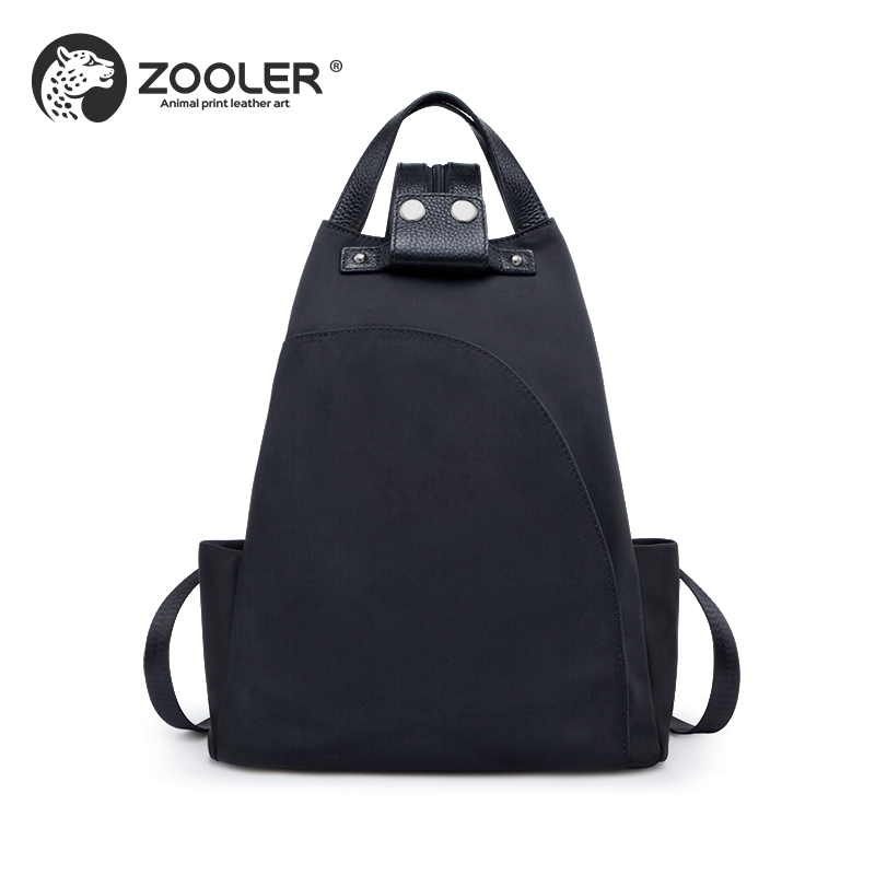 цена Brand TRAVEL backpack High quality women bag fashion backpacks girl school bags Nylon+Cowhide backpack #B258