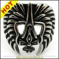 Rings for Men Stainless Steel Skull Pharoah Mask Hollow Out Ring Vintage Black Silver Ring Jewelry High Quality