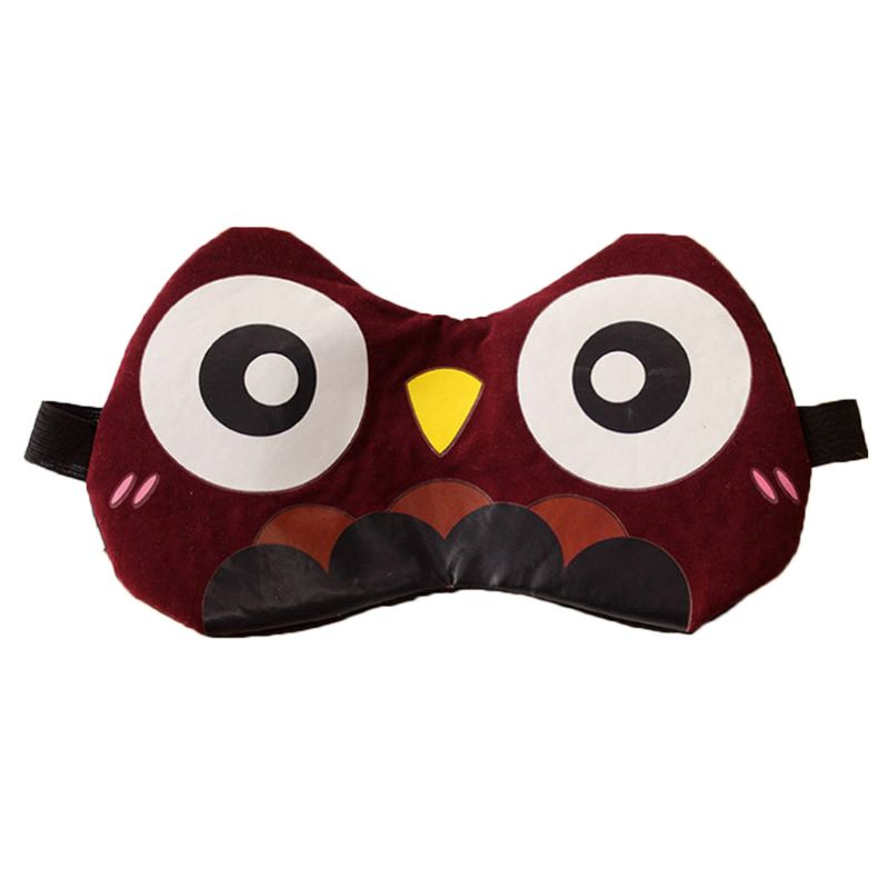 Unisex Ice Gel Cool Compress 3D Cute Cartoon Animal Elastic Strap Washable SPA Therapy Blindfold Eyeshade Sleeping Eye Mask