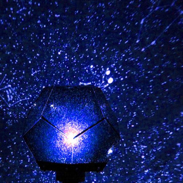 2018 New Year Christmas Home Decor Romantic Astro Star Sky Projection Cosmos Night Light Lamp DIY Gifts for Kids