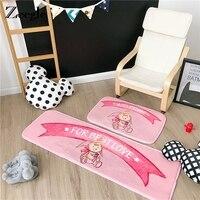 Zeegle 2 pçs/set Área Tapete Tapetes e Carpetes para o Quarto Dos Miúdos Sala de Crianças Brincam Tapete Rosa Tapete Do Assoalho Do Bebê Da Menina Mat