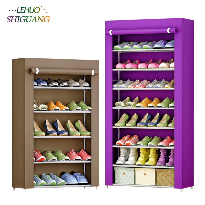 Large Capacity Shoe Rack Shoes Cabinet Canvas Fabric Standing ...