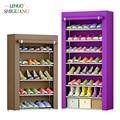 متعدد الطبقات خزانة خذاء غير المنسوجة الأقمشة كبيرة الحذاء الرف المنظم للإزالة حذاء تخزين غرفة المعيشة مدخل الأثاث