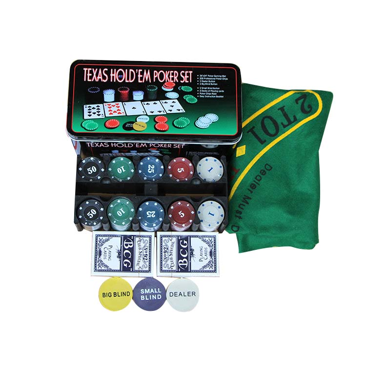 Super Deal - 200 Baccarat Chips Bargaining Poker Chips Set - Blackjack Table Cloth - Blinds - Dealer - Poker Cards - With Gifts