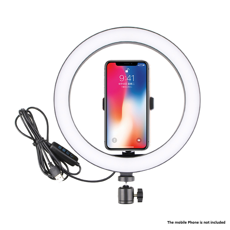 New Led Ring Flash Lights With Holder For iPhone Xiaomi Huawei Samsung Phones 16