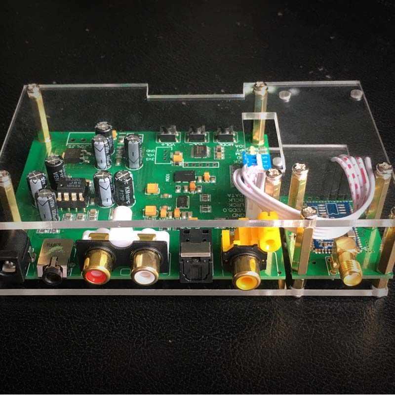 ES9038Q2M USB Bluetooth DAC デコーダボード I2S SPIDF CSR8675 APTX-HD モジュールデコーダボードの場合とアンテナ