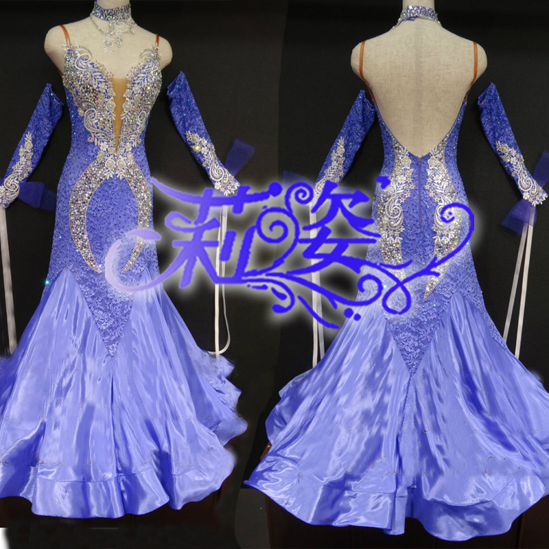 Hoge Kwaliteit Waltz Tango Jurk concurrerende Ballroom dans jurk strass stijldansen jurken ballroom dance jurken