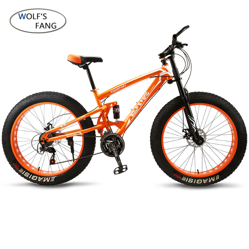 Vélo 7/21/24 Vitesse Vtt 26*4.0 Fat Tire Vélos Amortisseurs Vélo Route de Neige vélo bicicleta Vtt Livraison gratuite