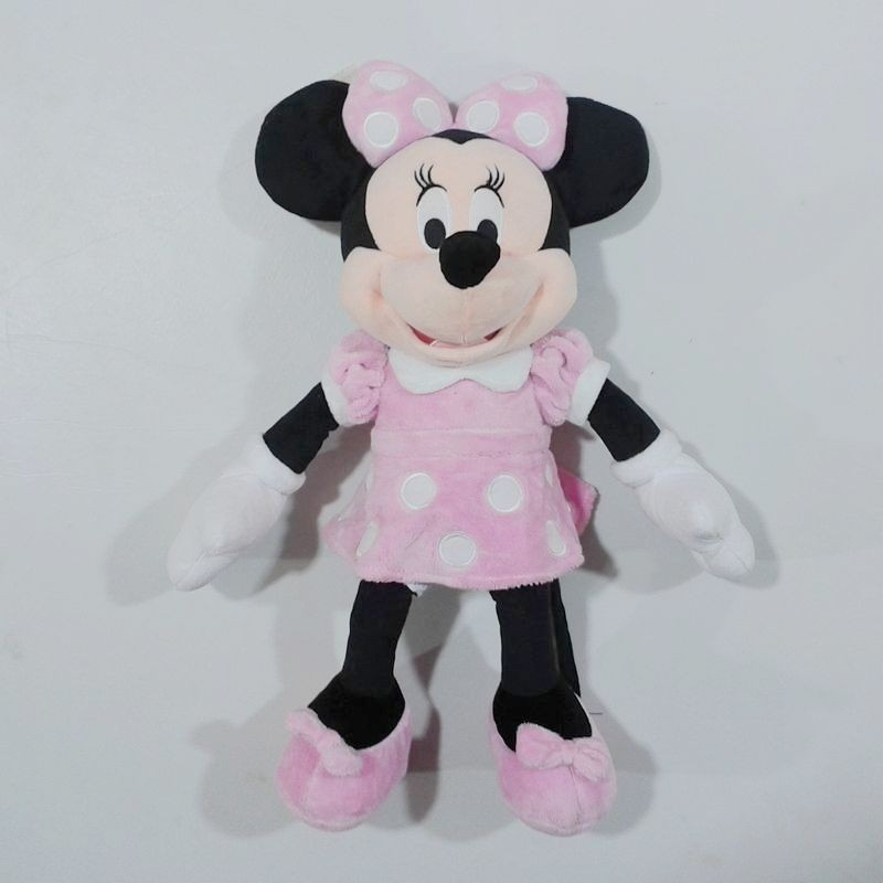 1pcs 45cm=17.7 Pink Original Minnie Mouse Stuffed animals soft plush Toys,High quality Pelucia Minnie toy for baby
